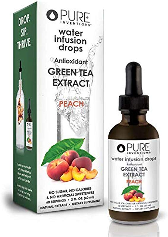 Pure Inventions Antioxidant Green Tea Extract Peach 60 Servings 2 Oz