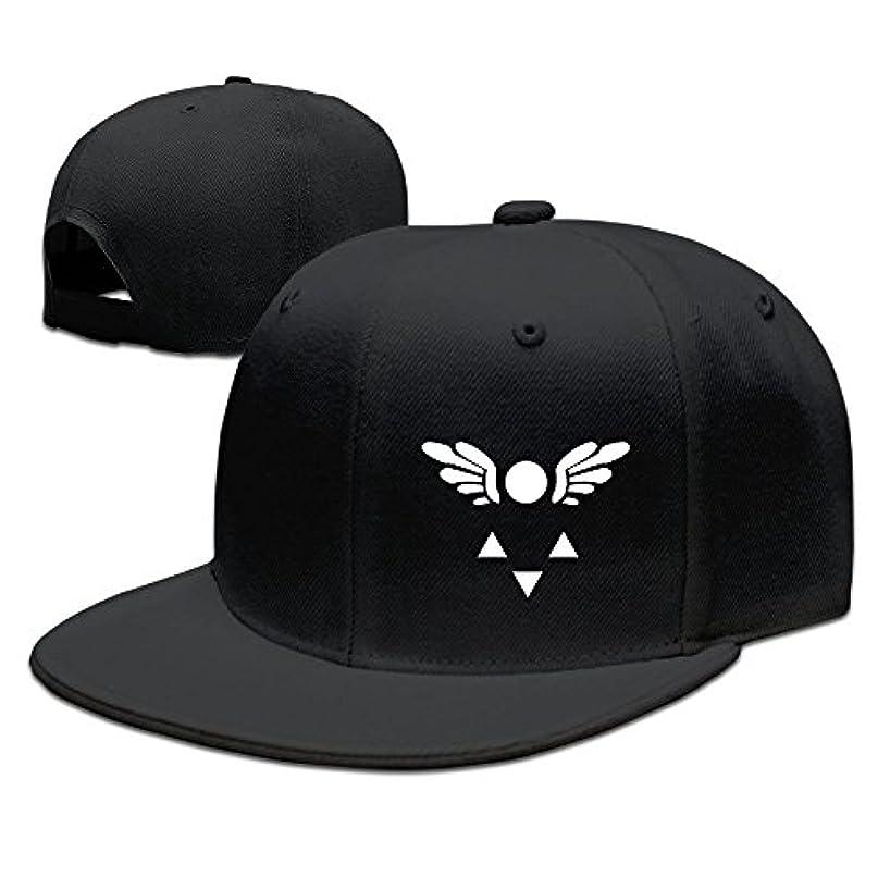 CEDAEI Delta Rune Lapel PIN Undertale Flat Bill Snapback Adjustable Running Cap Hat Black
