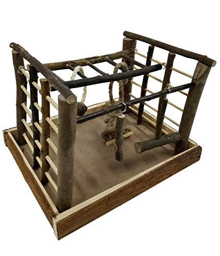 Dehner Vogelzubehör Spielzeug Matchfield, ca. 35 x 29 x 25 cm, Holz/Sisal, natur