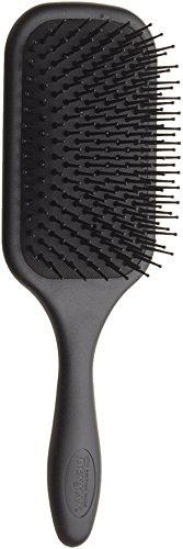Denman Paddle-Haarbürste/Paddle-Brush (Langhaarbürste) D83, Entwirrungs- und Pflege-Bürste für lange Haare mit Nylonborsten, 13-reihig, schwarz