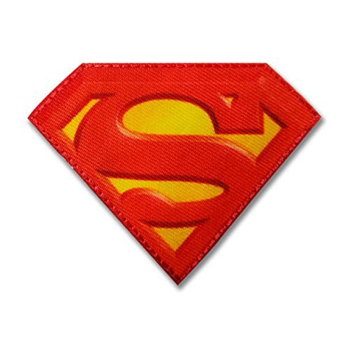 Panini Stoffaufnäher zum Aufbügeln, Superman, Batman, Superhelden von DC Comics. Logo Superman