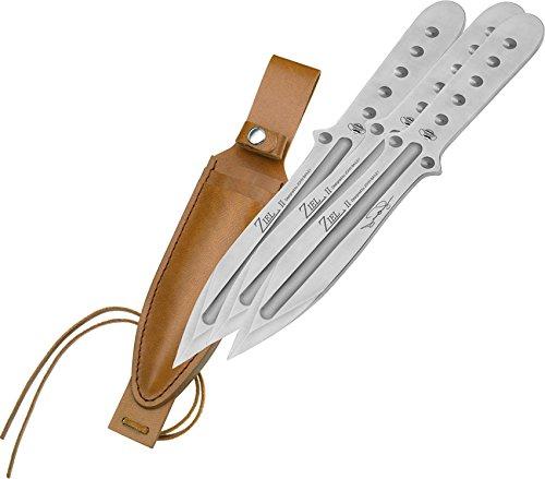 Magnum 02MB164 Bailey Ziel 3-Piece Throwing Knife Set, Steel