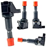 KSU Compatible With Ignition Coil Pack for Honda Fit 1.5L 2007 2008 UF581 C1578 UF-581 30520PWCS01 E1081 C1257 E507D 30520-PWC-501 1788374 6732308 UF-295 IC661 5C1091 E298 E700 E593A(4Pack)