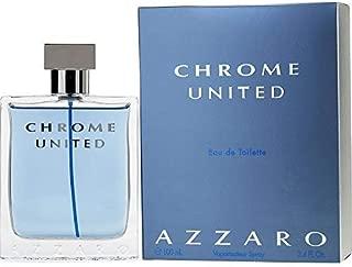 Azzārŏ Chrŏmė Unitėd Cologne for Men 3.4 fl. Oz / 100 ml Eau De Toilette Spray