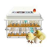 ZFF Automatico Uovo Incubatrice Auto Svolta Uovo E Regolare Il Rullo Pollame Hatcher Brooder per Pollo Oca Anatra (Color : 48 Egg)