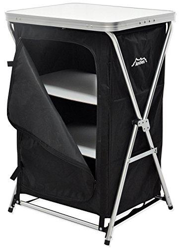 Andes - Meuble de rangement de camping - pour tente - 3 étagères/pliable