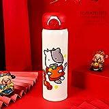 Taza de preservación de calor regalo rebote botón taza lindo dibujos animados doble capa 500ml 500ml B