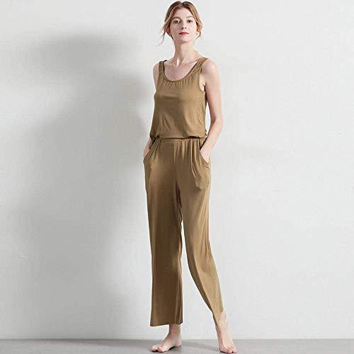 GaoF Damen-Jumpsuit Einfarbige Jumpsuit-Hose Home Pyjamas Summer Cool Pants