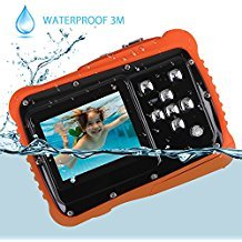Kids Camera, Digital Waterproof Camera for Children with 3M Waterproof, 2 Inch LCD Screen, 12MP HD Resolution, 8X Digital Zoom and Flash with A 8G SD Card and Non-Rechargeable Battery