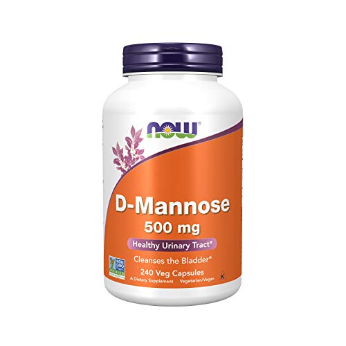 NOW Supplements, D-Mannose 500 mg, Non-GMO Project Verified, Healthy Urinary Tract*, 240 Veg Capsules