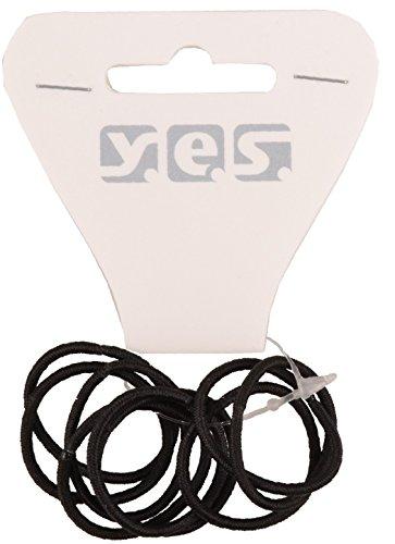 Solida Haargummi metallfrei klein, 4er Pack (4 x 9 Stück), schwarz