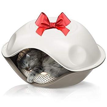Niche pour chat - Niche pour chien - Pour l'intérieur et l'extérieur - Résistant aux intempéries