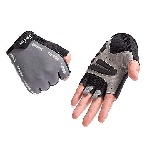 Mini-handschoenen, paardrijhandschoenen, halve vingerhandschoenen, voor mannen, siliconen, verdikking, mountainbike, anti-slip schokdemper, vrouwelijk, dungeslepen, zomer, ademende handschoenen