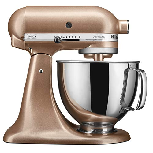 KitchenAid RRK150TZ Artisan Refurbished 5 Qt Stand Mixer, Toffee Delight