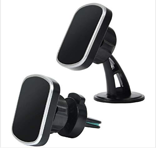 Soporte magnético para teléfono de coche, salida de aire 2 en 1, soporte para teléfono móvil para iPhone 12 11 Pro Max XS XR X Samsung S10 Huawei Sony Xiaomi GPS