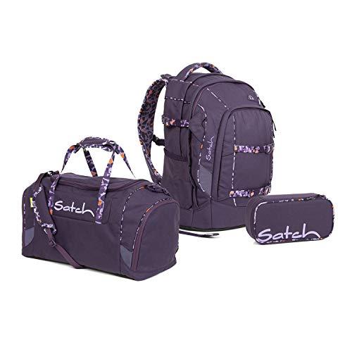 Satch Pack Schulrucksack Set 3tlg. (SchlamperBox und Sporttasche) (Pack Mysterious Rush)