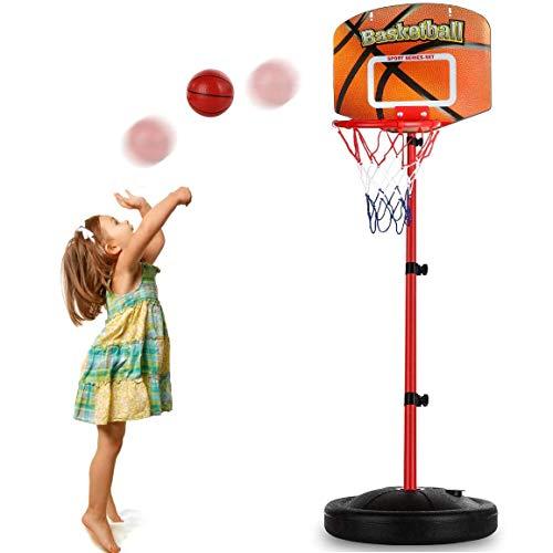 Fall Basketballkorb fürs Zimmer, Verstellbare Höhe 76 cm bis 156 cm, Mini Innen Basketball Tor Spielzeug, zum Jungen Mädchen Draussen Sport Treiben