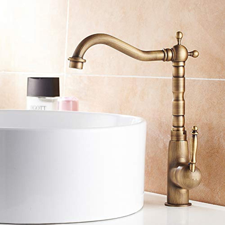 DDGYGG Wasserhahn 360 Grad Antike Messing Hoch Bad Wasserhahn Einzigen Handgriff Heies Und Kaltes Wasser Toilette Wasserhahn