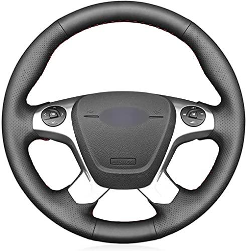 Funda para volante de coche de piel negra para Ford Transit Connect...