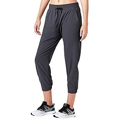 Naviskin Women's UPF 50+ Sun Protection Outdoor Capri Pants Lightweight Workout Running Jogger Yoga Capri Pants Grey Size XL