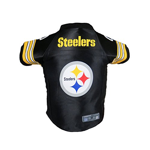 Littlearth Pets NFL Pittsburgh Steelers Premium Pet Jersey - Sports Jersey Designed for Dogs and Cats, Team Color, X-Large