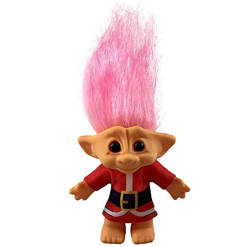 Yintlilocn Lucky Troll Dolls,Vintage Troll Dolls,Christmas Dolls Chromatic Adorable for Collections, School Project, Arts and Crafts, Party Favors- 7.5' Tall(Include The Length of Hair (Pink)