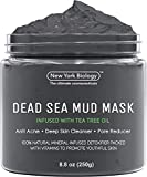 New York Biology Dead Sea Mud Mask for Face and Body Infused with Tea Tree - Spa Quality Pore Reducer for Acne, Blackheads and Oily Skin - Tightens Skin for A Healthier Complexion - 8.8 oz