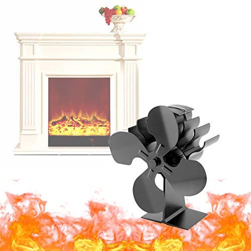 NANANA Kaminventilator 4-flügel - Kamin-Ventilator Ofenventilator Feuerstelle Kaminöfen Ofen für Holzfeuerungen Extrem Leise Erhöht Die Warmluft um 80% Gegenüber, 21x16x13cm