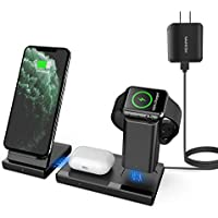 Mankiw 3 in 1 Wireless Charging Station for Apple iWatch AirPods Pro