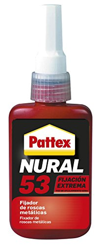 Pattex Nural 53, fijador de roscas metálicas, 50 ml