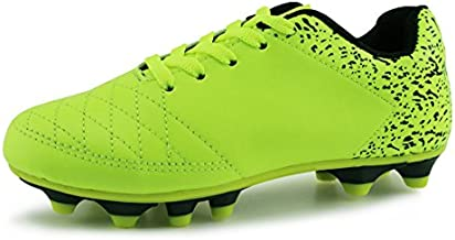 Hawkwell Athletic Outdoor Comfortable Soccer Shoes(Toddler/Little Kid/Big Kid), Green PU, 2 M US