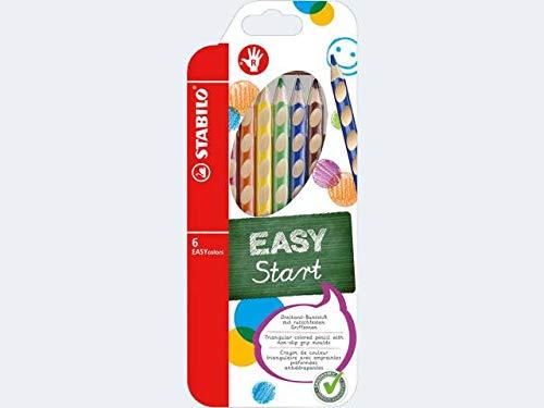 6 Farbstifte EASY colors im Etui Rechtshänder
