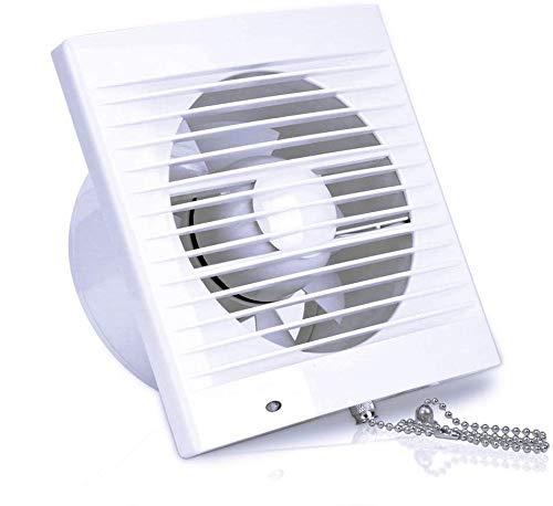 130m³ / h Extracteur d'air Ventilateur 100mm Conduit de Salle de Bain Ventilateur de Ventilation avec Pare-brise Interrupteur de...