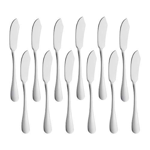 Meisha - Juego de 12 cuchillos de mantequilla de acero...