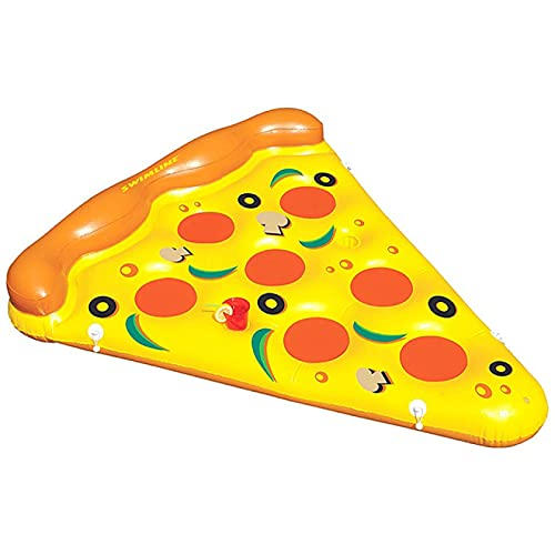 RONGXIANMA Pool Floating Mat Giant Inflatable Pizza Slice Pool Float Pool Float Bed Sea Mattress Swimming Party Toy