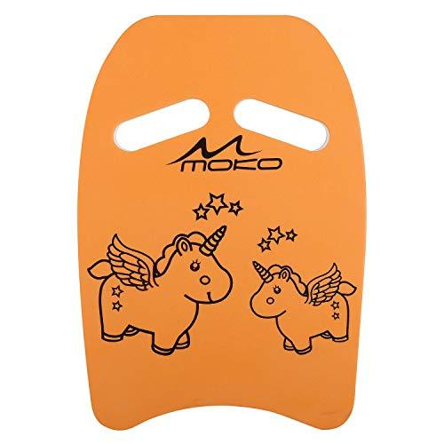MoKo Kinder Schwimmbrett, Schwimmen Kickboard Trainingsausrüstung mit Griffen Schwimmhilfe Cartoon Swim Float Schwimmtrainingsausrüstung Schwimm Board für Junge Mädchen - Orange