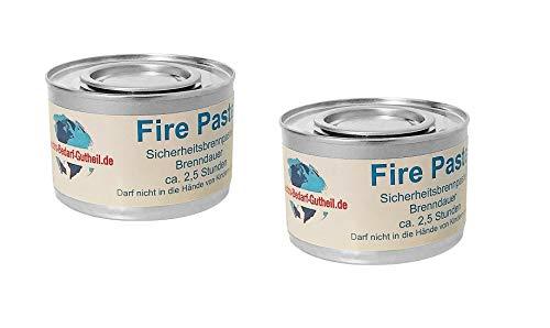 Gastro-Bedarf-Gutheil 2 x Sicherheitsbrennpaste je Dose 200 g Qualitätsprodukt Fire Paste Brennpaste Brenngel Brenndauer ca. 2,5 Std. für Chafing Dish Speisewärmer Warmhaltebehälter Rechaud