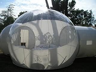 BubbleU24(TM) モバイルインフレータブルバブルテント 2トンネル付き ファミリーキャンプテント
