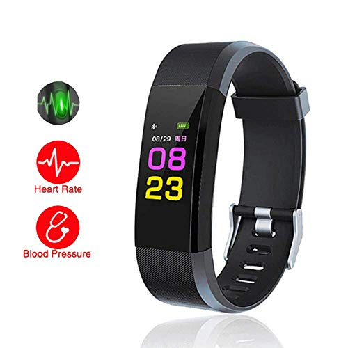 HUG PUPPY Smart Band Fitness Tracker Watch Heart Rate with Activity Tracker...