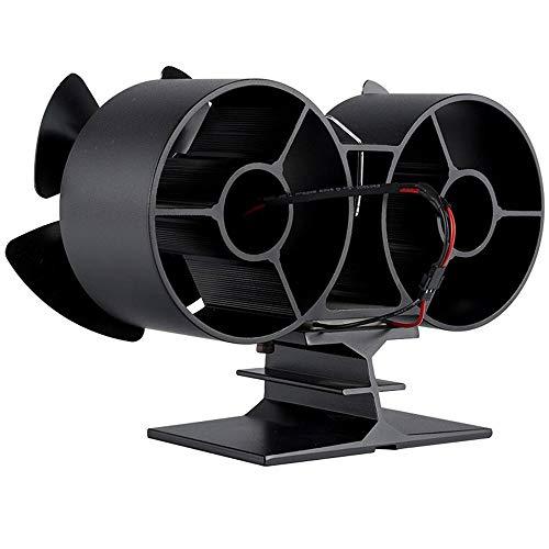 XIAOKUKU Silent-Log Burner Fan 4-Blatt Umweltfreundliche Wärmegetriebene Selbst Powered Kamin Ventilator Hochtemperaturraum Selbst Aufheizen