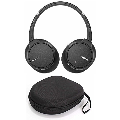 Sony WH-CH700N Wireless Noise Canceling Headphones, Black (WHCH700N/B) w/Hardshell Headphone case and USB Bluetooth Adapter