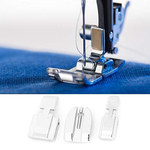 Prensatelas invisible de acero inoxidable, prensatelas para cremalleras, para máquinas de coser Singer