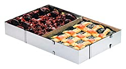 Westmark cake / pizza frame, baking frame with divider, length and width adjustable, stainless steel, silver, 31322260