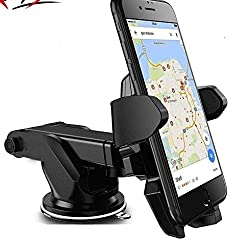 Mobilegabbar Adjustable Mobile Holder / Mobile Stand / Car Stand With Quick One Touch Technology For Mobiles Phones