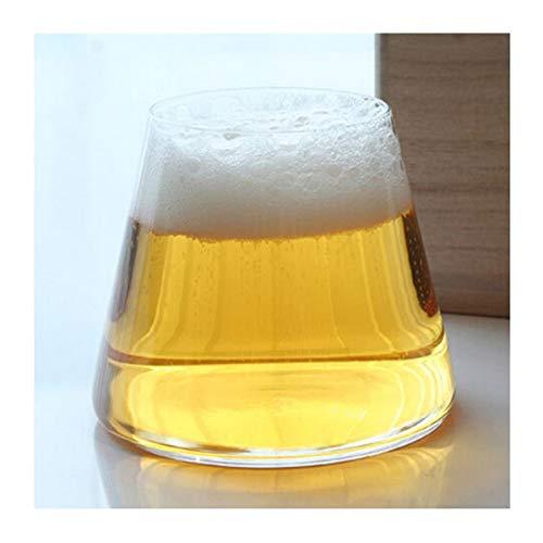 Story Creative Fujiyama Glass High Borosilicate Copa de Vidrio Cerveza Cerveza Glass Glass Tongmu Caja de Regalo Ajuste para el Vino Whisky Cerveza Jugo Brandy (Capacity : 280ml, Color : 2pcs)
