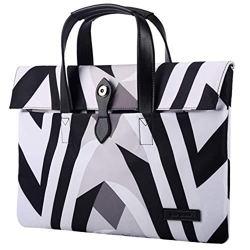 JINXIUCASE 15.6 Inch Laptop Bag Briefcase Sleeve Case Computer Carrying Bag Waterproof Handbag Case (Color : Zebra-striped, Size : 15.6inch)