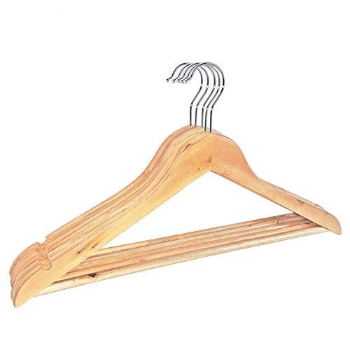 Vêtements pour hommes en bois massif couleur orme suspendus à la maison magasin de vêtements cintres en bois d'hôtel (5pcs)