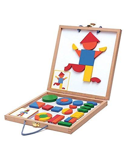 DJECO- Magneticos de madera, Multicolor (DJ03130)