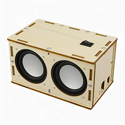 CALIDAKA DIY Bluetooth Speaker Box Kit Electronic Sound Amplifier,Build Your Own Portable Wood Case Bluetooth Speaker with Sound,Science Experiment and STEM Learning for Teens,Kids Adults