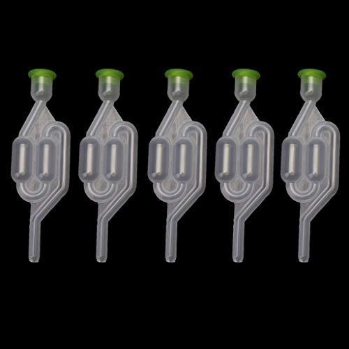 Abcidubxc 5St Fermentations-Auslassventil,Luftschleuse Vom Typ Double Bubble S Für Die Weinherstellung,Weinschleuse